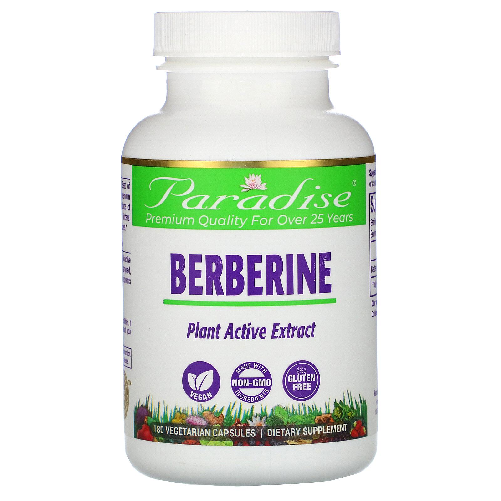 Купить Berberine Paradise Herbs капсулы 180 шт.