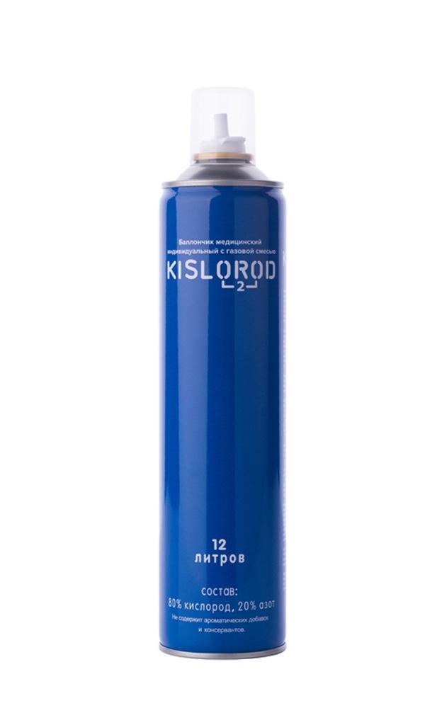 Купить Кислородный баллончик медицинский индивидуальный с газовой смесью KISLOROD К12L, KISLOROD prana