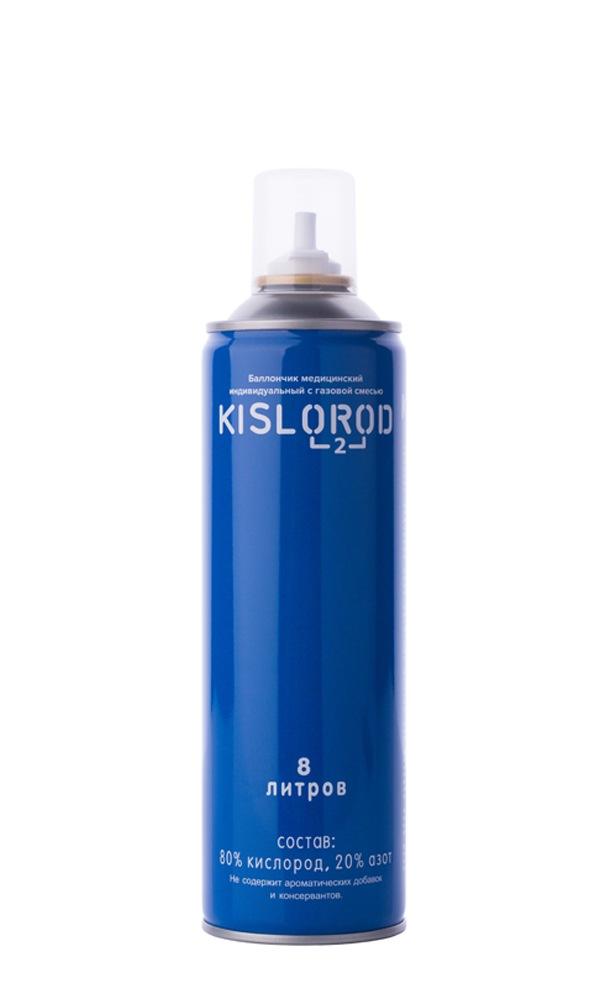 Купить Кислородный баллончик медицинский индивидуальный с газовой смесью KISLOROD К8L, KISLOROD prana
