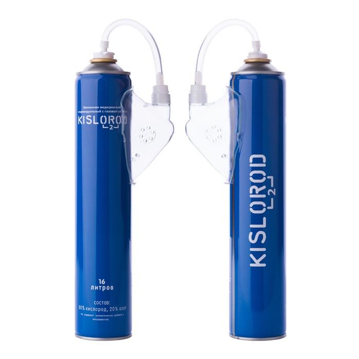 Купить Кислородный баллончик/ медицинский индивидуальный с газовой смесью KISLOROD K16L 5 шт + K16L-M 1 шт., Кислородный баллончик медицинский с газовой смесью KISLOROD K16L 5 шт + K16L-M 1 шт., KISLOROD prana