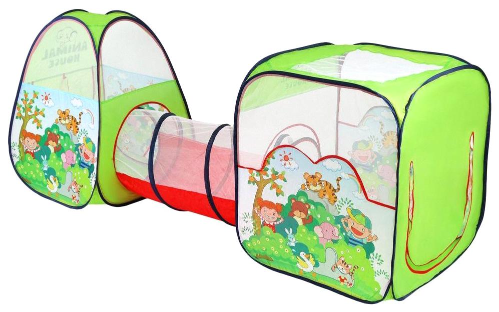 Палатка Наша Игрушка Волшебный сад с туннелем