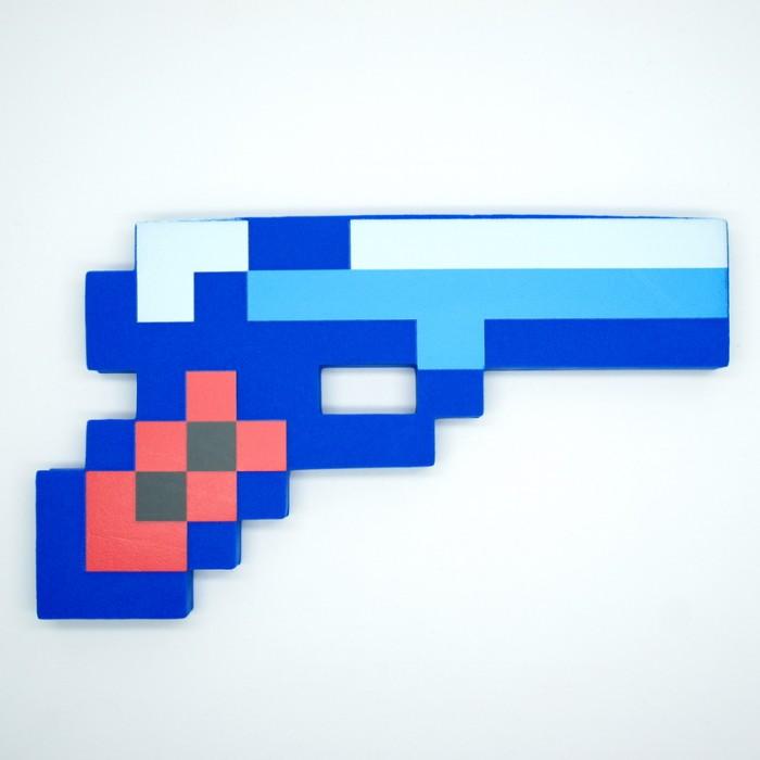 Пистолет LELE Майнкрафт, синий