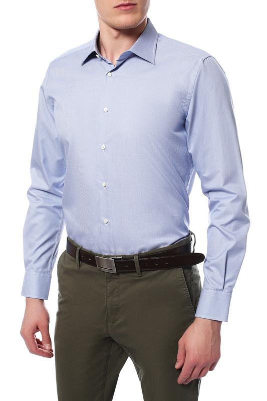 Рубашка мужская Windsor 10004170_420_30007170 синяя 39 DE