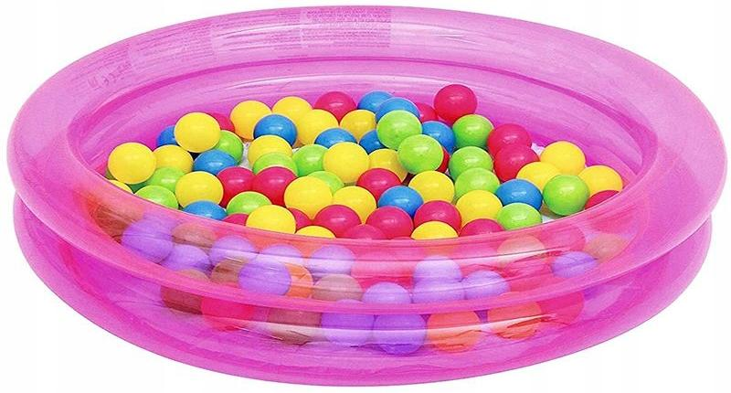 Купить Детский бассейн Bestway 51085 с шариками (Pink), Детские бассейны