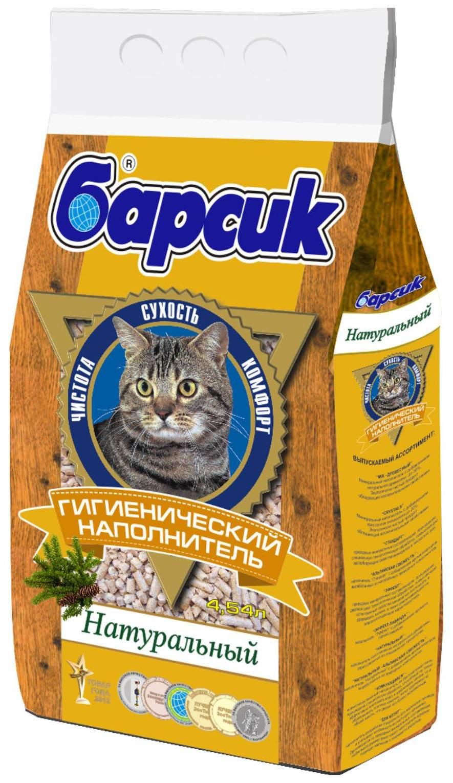 Впитывающий наполнитель для кошек Барсик Натурал древесный,