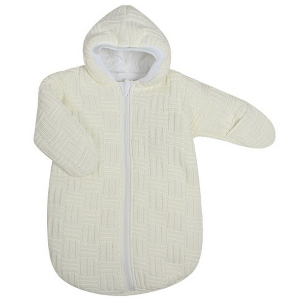 Спальный мешок детский Kidboo вязанный бежевый