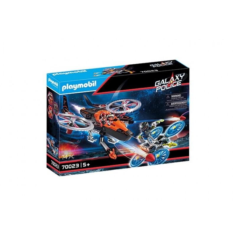 Купить Галактическая полиция, Конструктор Playmobil Вертолет пиратов Галактики 70023,