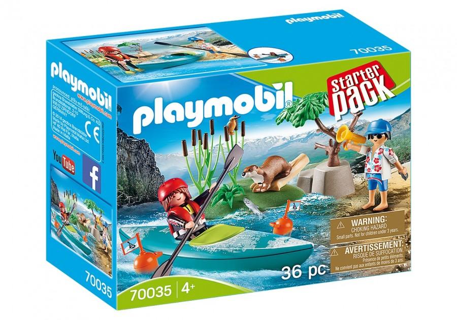 Купить Веселые каникулы, Конструктор Playmobil Приключения на байдарках 70035,