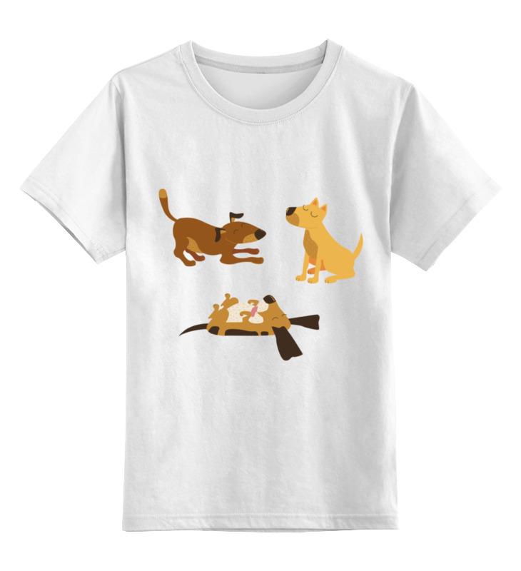 Детская футболка Printio Собачки цв.белый р.152 0000002075110 по цене 790