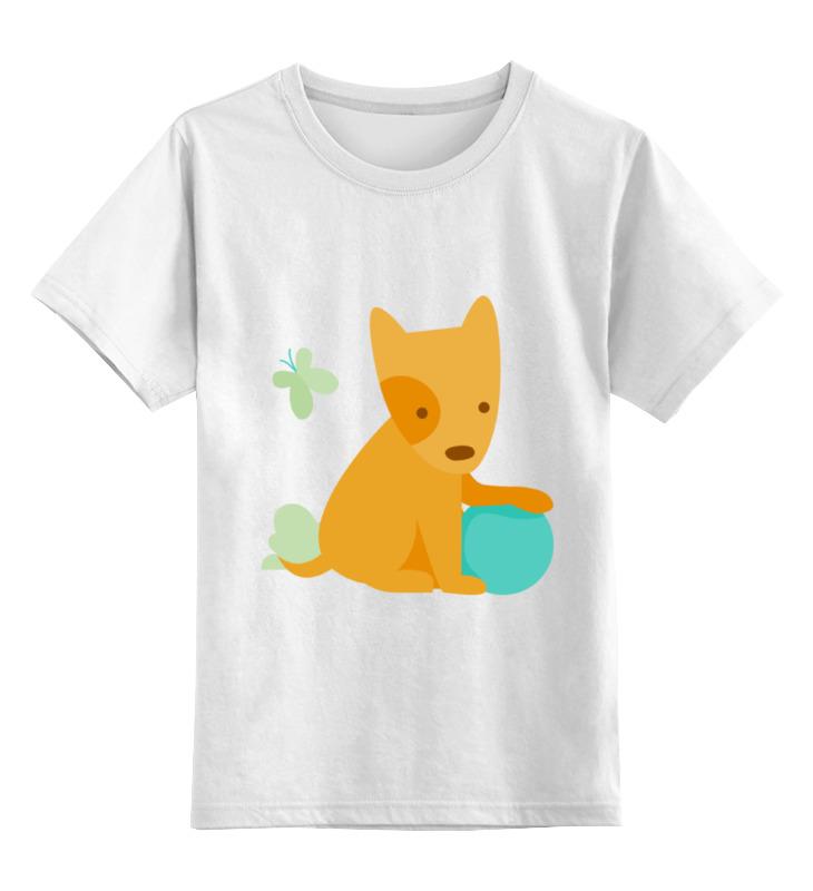 Детская футболка Printio Веселый щенок цв.белый р.152 0000002095622 по цене 790