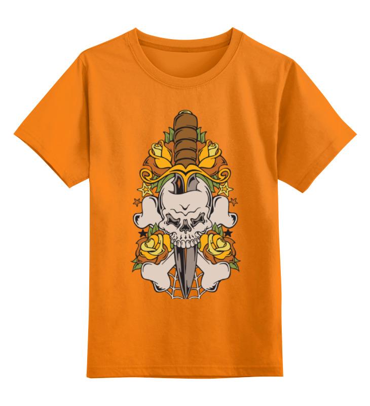 Детская футболка Printio Череп цв.оранжевый р.152 0000002104959 по цене 842