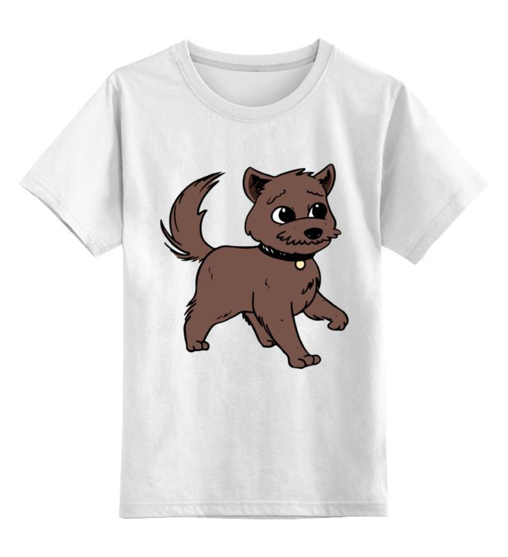 Детская футболка Printio Собачка цв.белый р.152 0000002278066 по цене 790