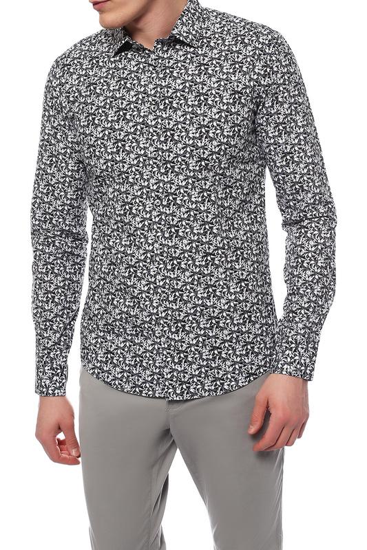 Рубашка мужская Sand SS16 8191 - IVER черная 41 EU