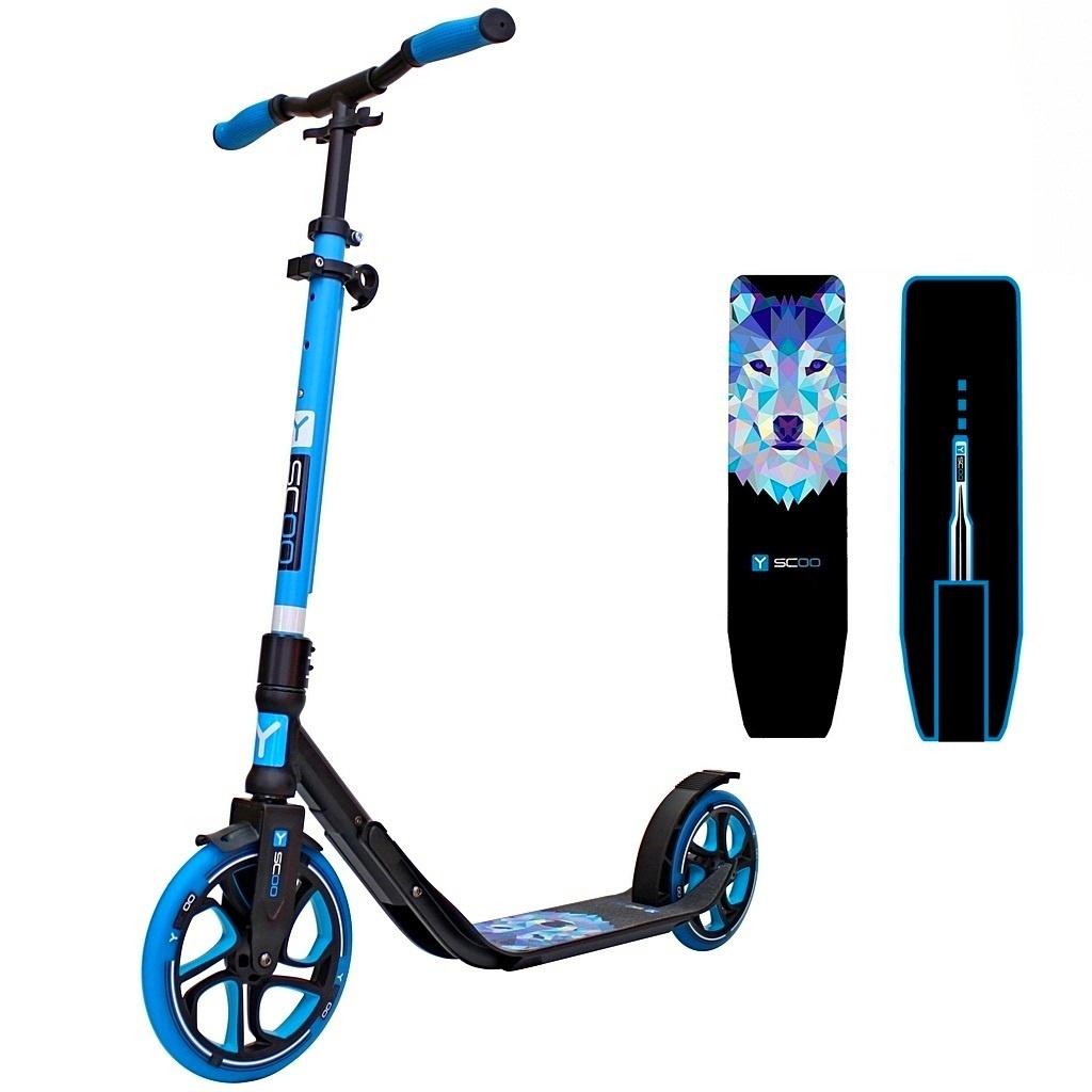Купить Самокат детский Y-Scoo RT 250-215 мм One&One blue,