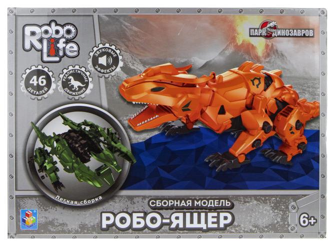 Конструктор 1Toy Робо-ящер 46 деталей оранжевый 1 TOY