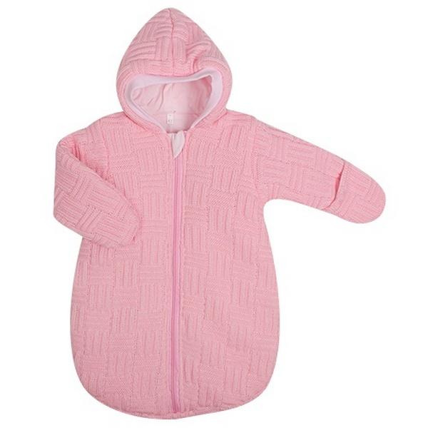 Спальный мешок детский Kidboo вязанный розовый