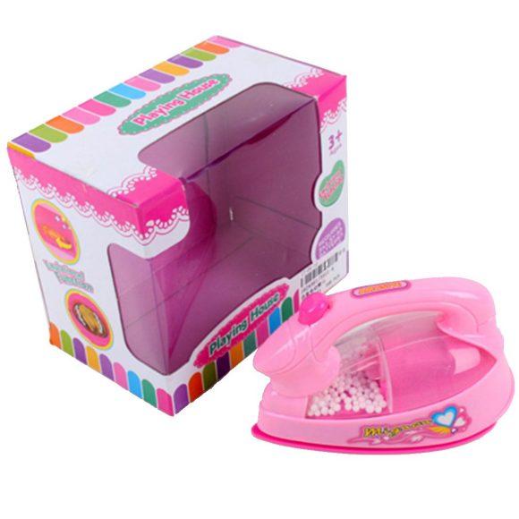 Утюг игрушечный Наша игрушка розовый, свет, звук