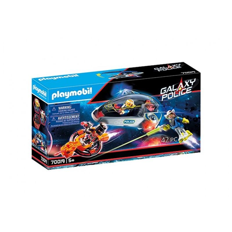 Купить Галактическая полиция, Конструктор Playmobil Полицейский планер 70019,