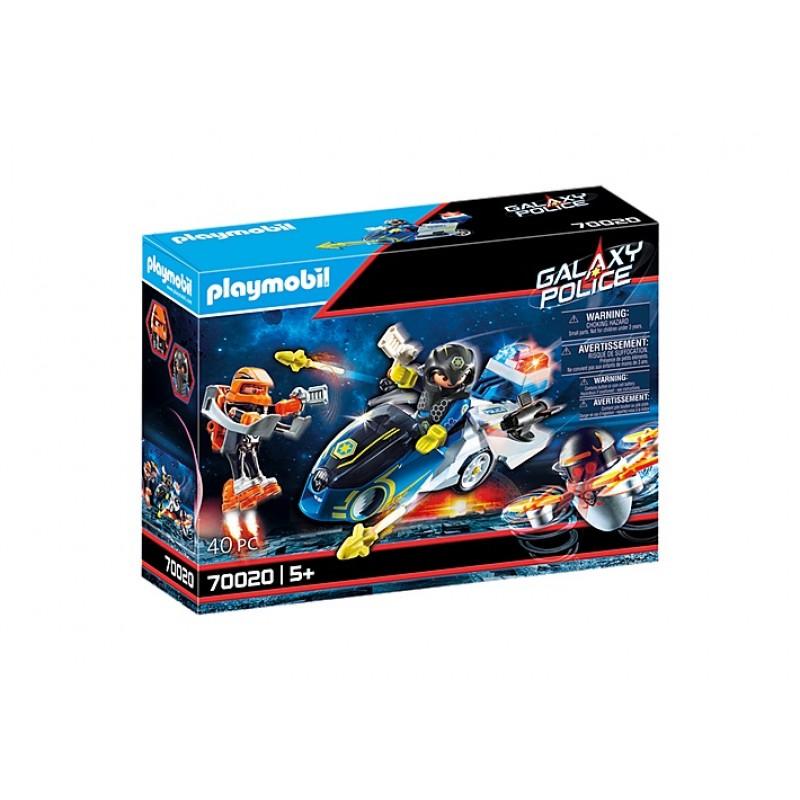 Купить Галактическая полиция, Конструктор Playmobil Полицейский байк 70020,