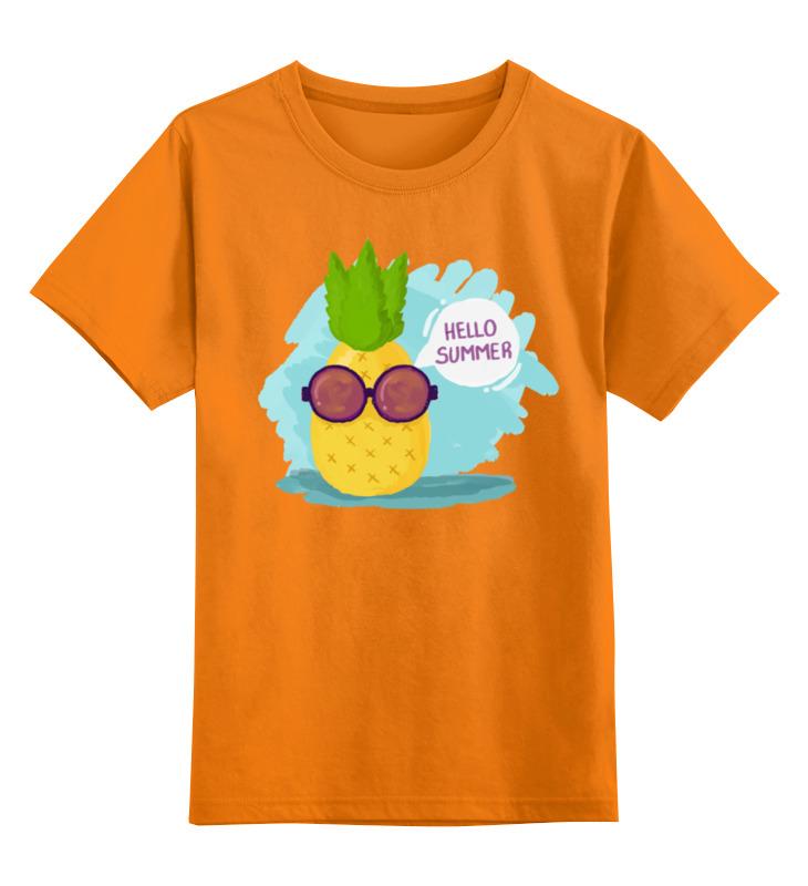 Детская футболка Printio Hello summer! цв.оранжевый р.152 0000002018736 по цене 842