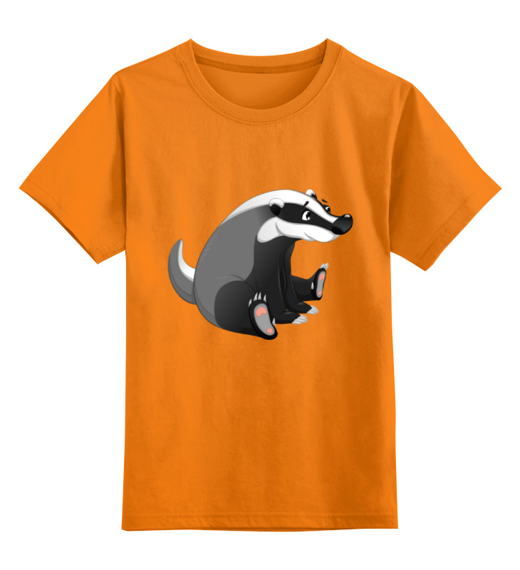 Детская футболка Printio Забавный барсук цв.оранжевый р.152 0000002041507 по цене 990