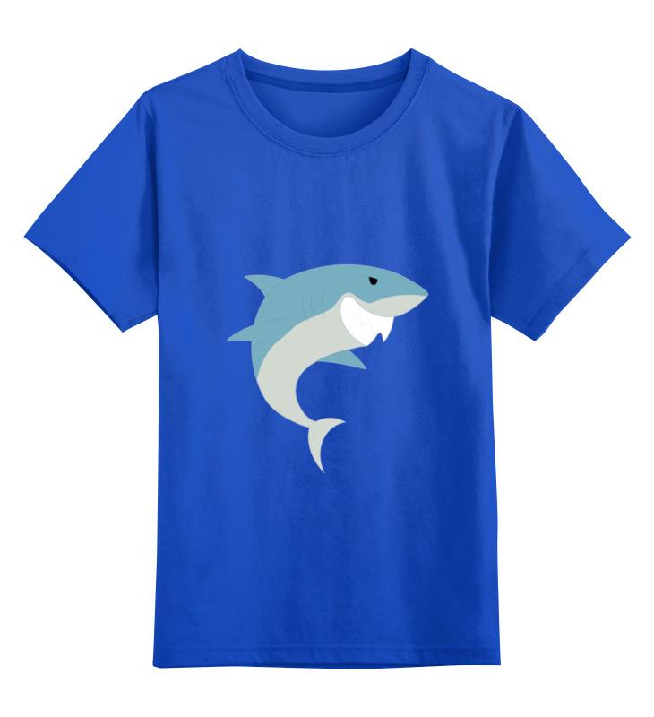 Детская футболка Printio Акула цв.синий р.152 0000002077612 по цене 990