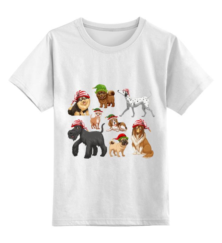 Детская футболка Printio Забавные собачки цв.белый р.152 0000002090331 по цене 790