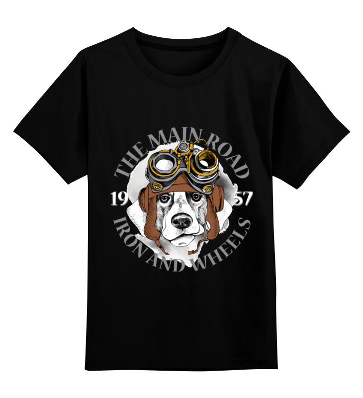 Детская футболка Printio Собака цв.черный р.140 0000002319081 по цене 990