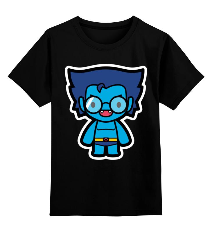 Купить 0000002440306, Детская футболка Printio Зверь цв.черный р.140,
