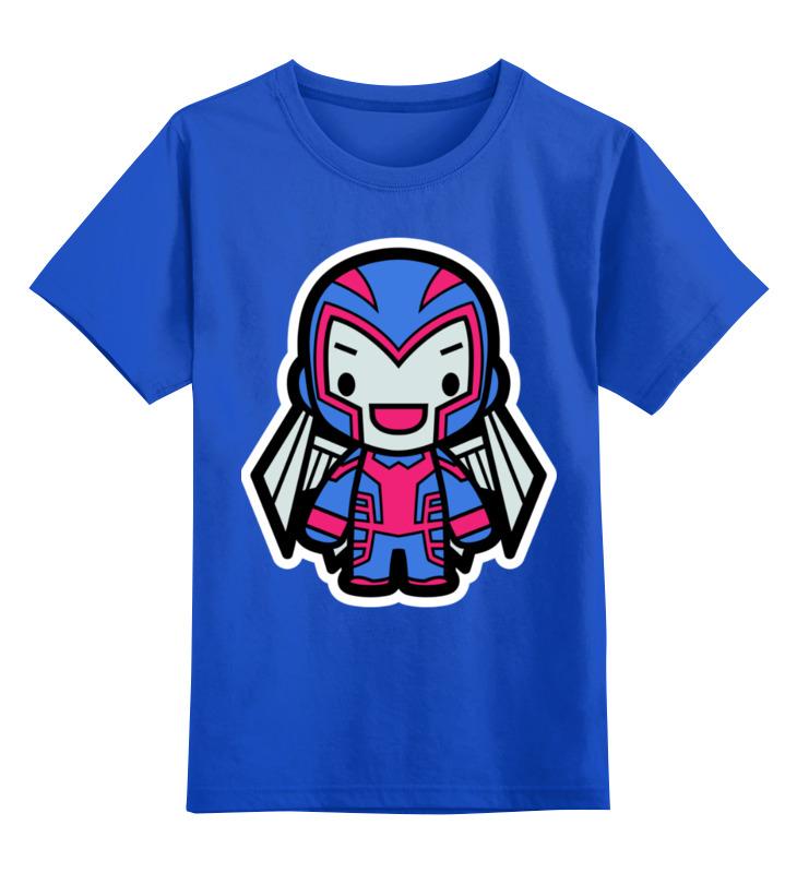 Купить 0000002440323, Детская футболка Printio Магнето цв.синий р.140,