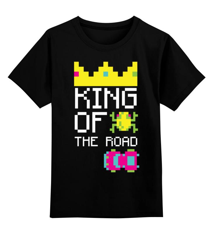 Детская футболка Printio Король дороги цв.черный р.140 0000002454800 по цене 990