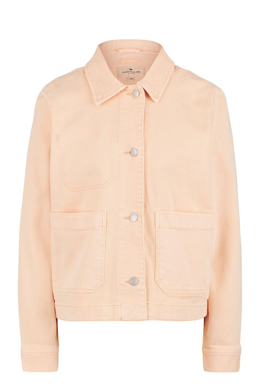 Джинсовая куртка TOM TAILOR 1017983-23057 красная S