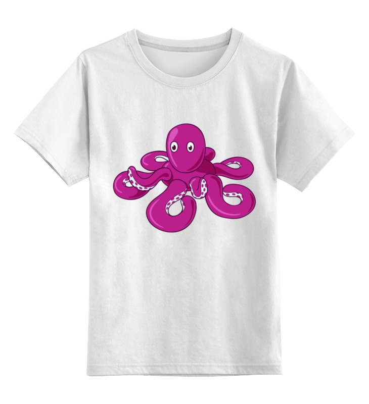 Купить 0000002493666, Детская футболка Printio Осьминожка цв.белый р.140,