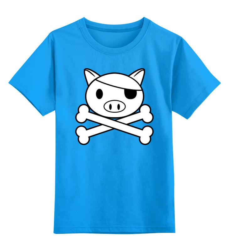 Детская футболка Printio Свинья - пират цв.голубой р.140 0000002556371 по цене 990
