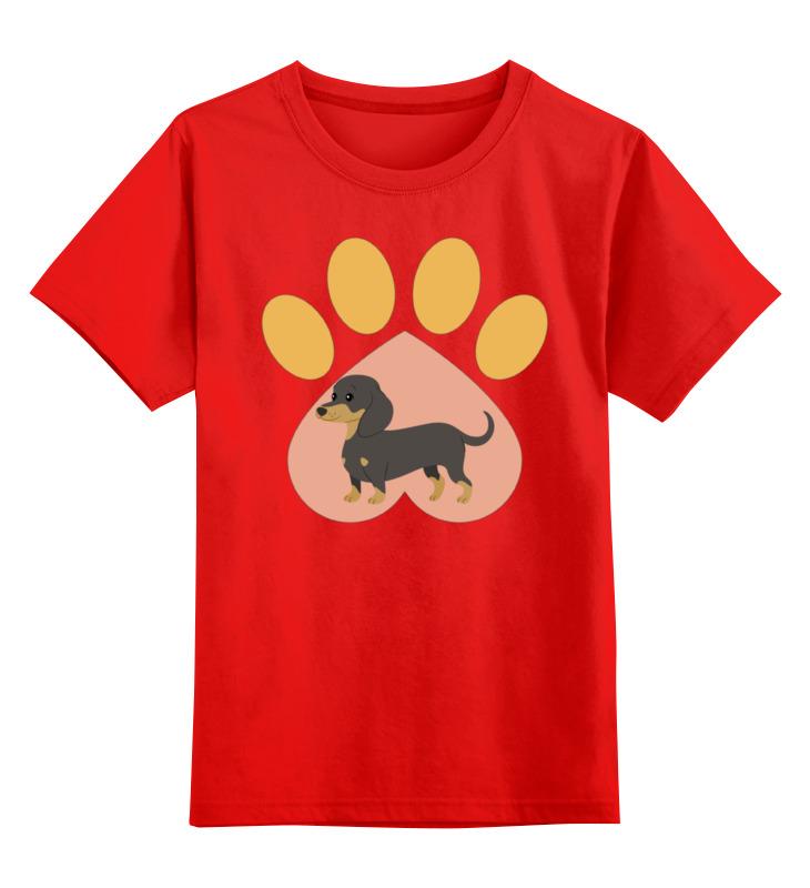 Детская футболка Printio Любимая такса цв.красный р.140 0000002316249 по цене 990