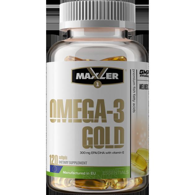 Купить Рыбий жир омега-3 MAXLER Omega-3 Gold капсулы 120 шт.