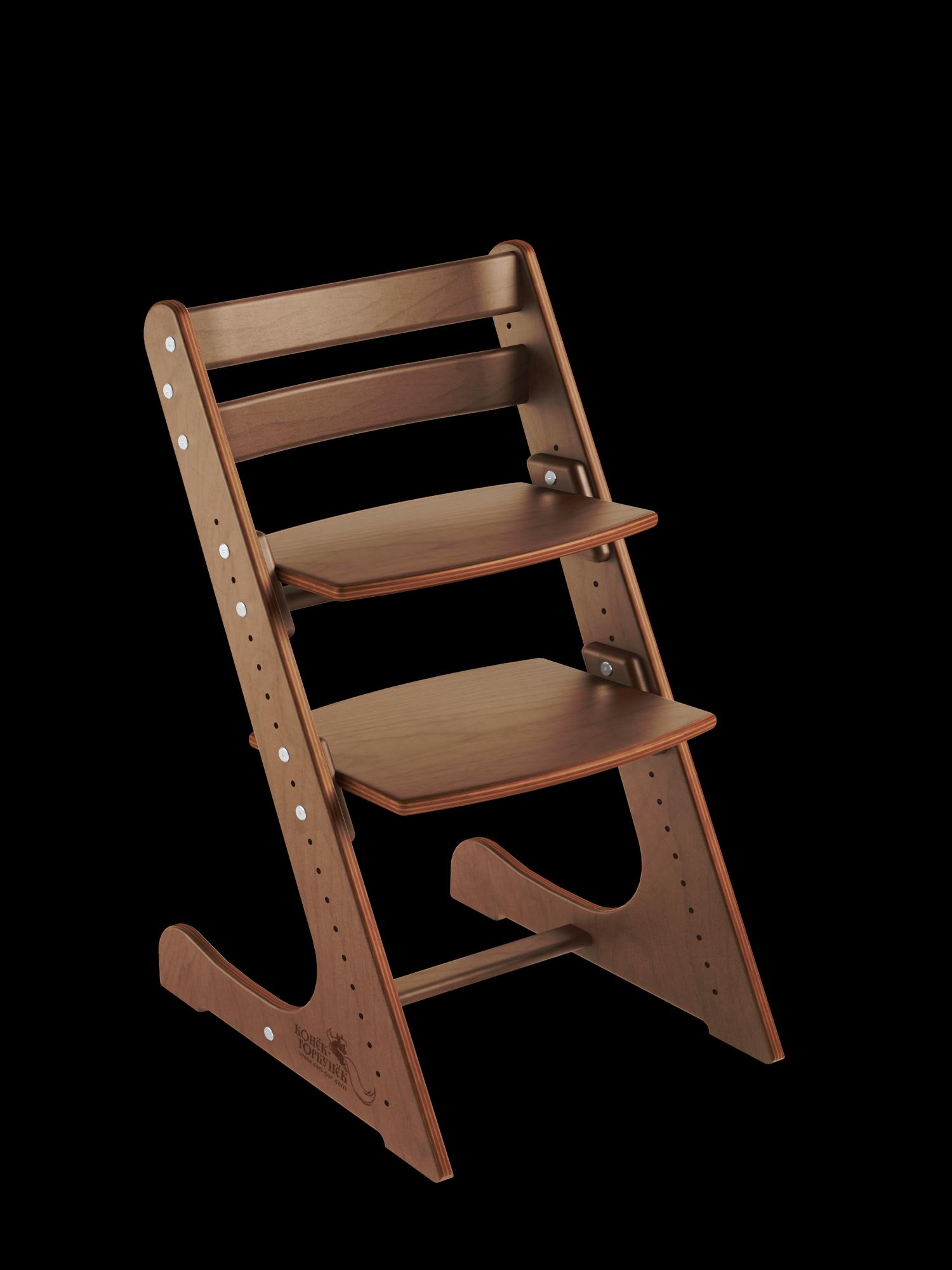 Детский растущий стул Конек Горбунек Комфорт Орех