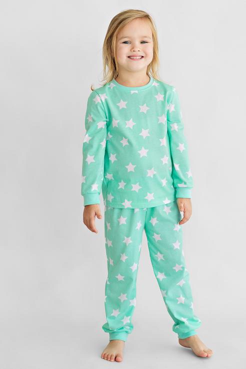 Купить Пижама детская Bossa Nova свитшот и брюки 356П-171 Бирюзовый р.104,