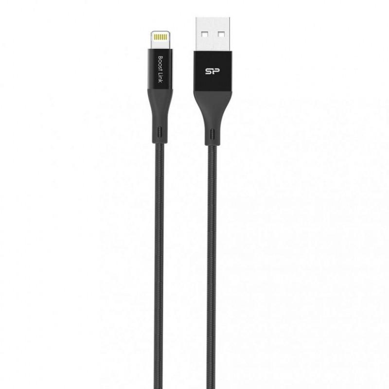 Кабель Silicon Power Lightning USB 1м, нейлон,