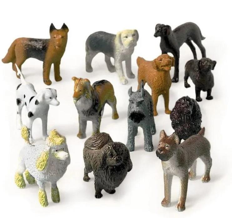 Купить Фигурки Amscan Животные Собаки ассорти 12шт ЕУТ_1507-0785(4-3),