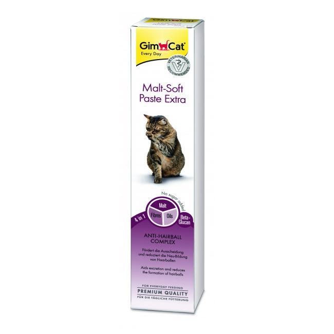 Паста для выведения шерсти для кошек GIMBORN