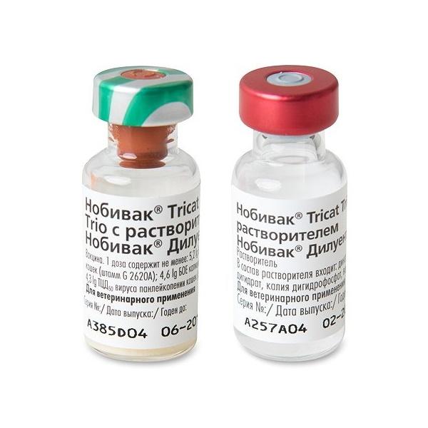 Вакцина для кошек INTERVET Нобивак Tricat Trio,