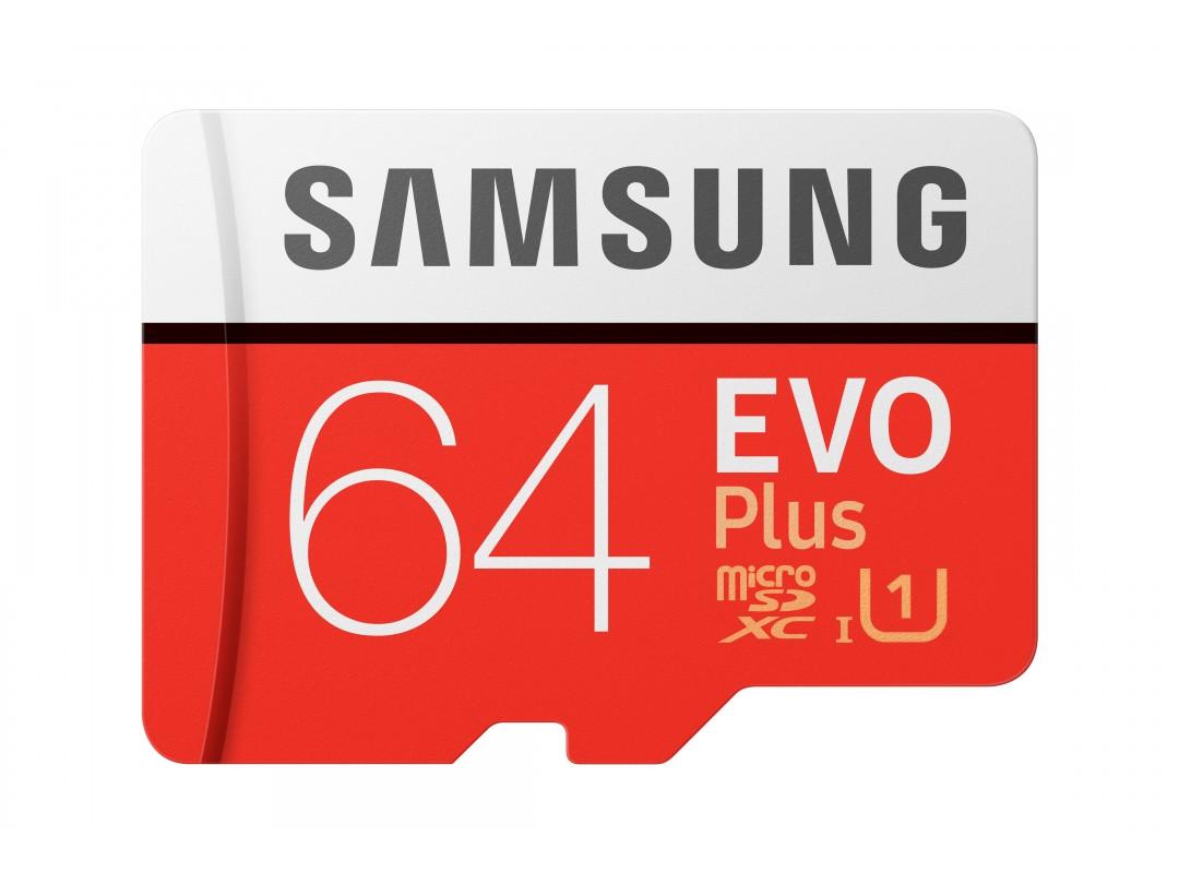 Карта памяти Samsung 64GB EVO plus