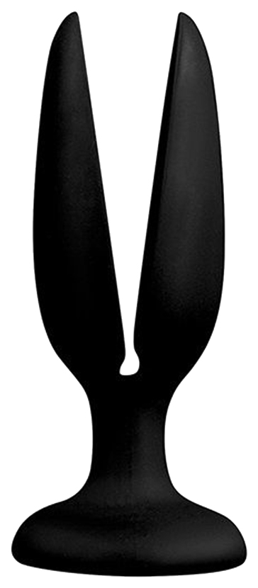 Чёрная пробка-бутон MENZSTUFF FLOWER BUTT PLUG 4INCH 11 см