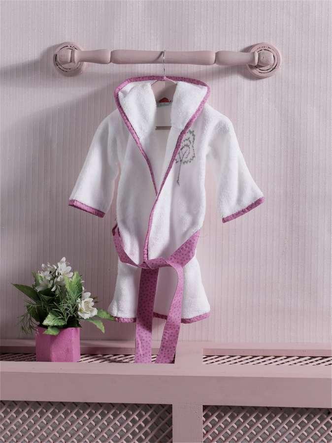 Халат детский Kidboo Little Farmer Pink, размер