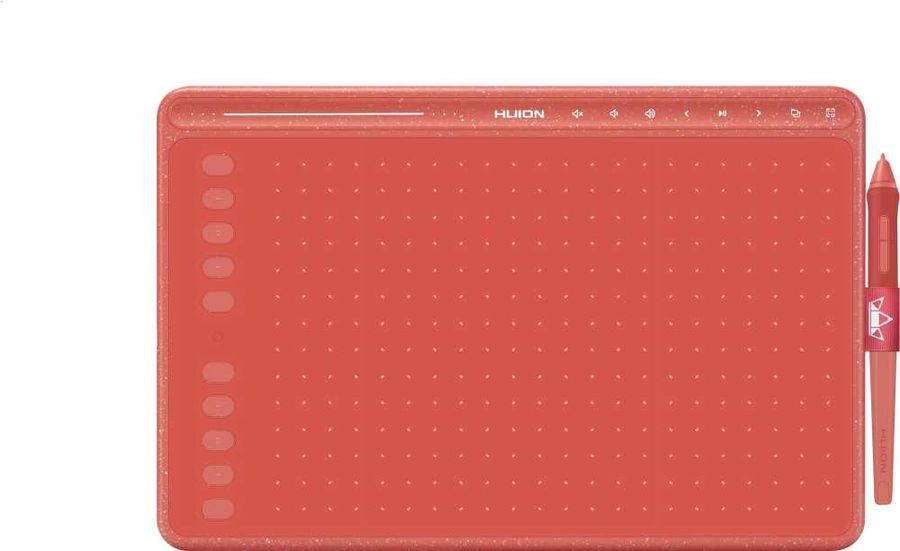 Графический планшет Huion HS611 Coral Red