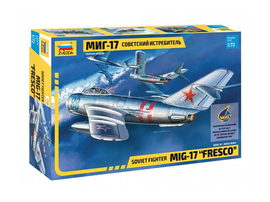 Купить Сборная модель Советский истребитель МИГ-17, 1:72 Звезда, ZVEZDA, Модели для сборки
