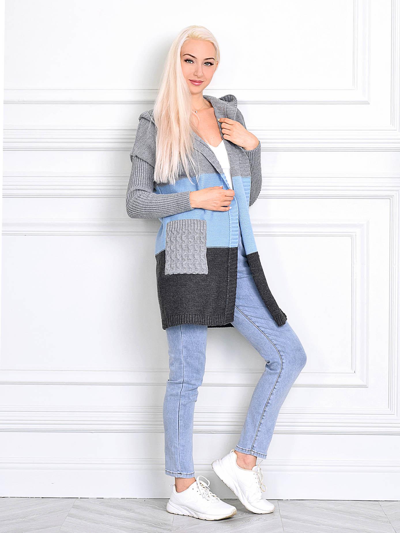 Кардиган женский MILANIKA 1306 голубой 52 RU, 1306