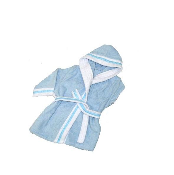 Халат детский Labeille банный Премиум, голубой