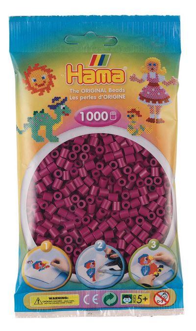 Купить Бусинки для термомозаики Midi, 1000 штук, цвет: сливовый, Hama,